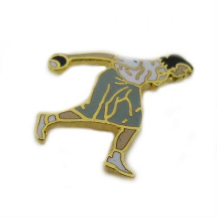 Female Bowler Pin Badge